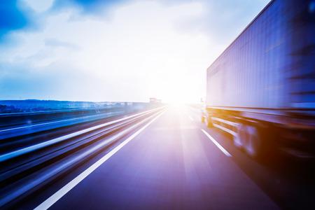 Foto de Container Trucking - Imagen libre de derechos