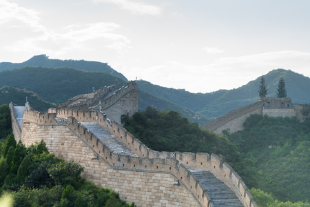 the Great Wall in China.
