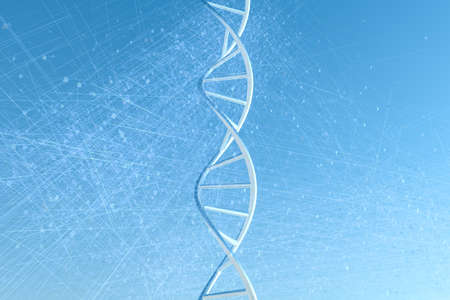 Photo for 3d rendering, DNA with blue background - Royalty Free Image