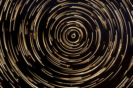 Photo pour Particles revolves around its center with dark background, 3d rendering. Computer digital drawing. - image libre de droit