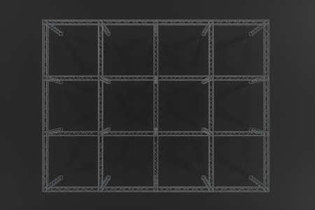Photo pour Steel reinforcement with dark background, 3d rendering. Computer digital drawing. - image libre de droit