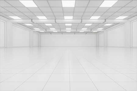 Photo pour Capacious empty room, business background, 3d rendering. Computer digital drawing. - image libre de droit