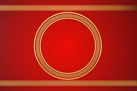 Photo pour Chinese style red background, festival decoration, 3d rendering. Computer digital drawing. - image libre de droit