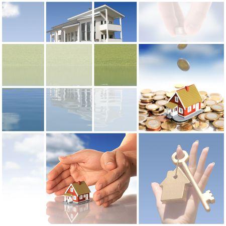 Foto de Collage. Invest in real estate concept. - Imagen libre de derechos