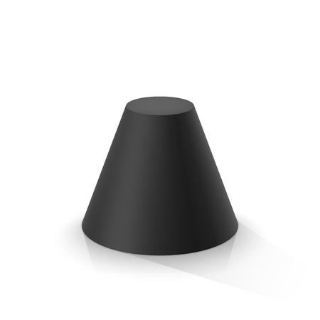 Illustration pour Black frustum cone. Vector illustration - image libre de droit