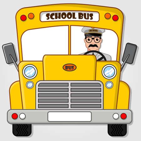 Illustration pour School Bus isolated on a white background. Flat style vector illustration - image libre de droit