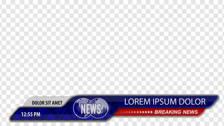 Illustration pour Video headline title or Lower third for news header. Breaking news. Vector template for your design. - image libre de droit