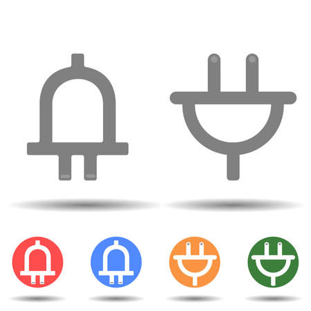 Plug up and down icon vector isolated on background