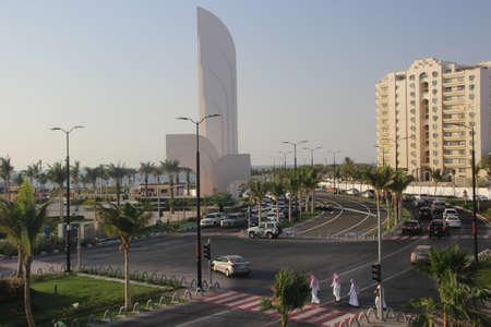 Jeddah city of Saudi Arabia with Beautiful Beach, Cityscape, Green Parks,  Seaside