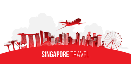 Singapore travel concept. vector illustration.