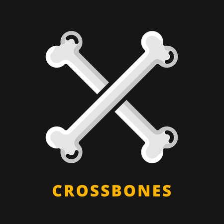Illustration pour Bones Halloween Icon Filled Line Style. Bone Vector Logo Illustration. Crossbones Symbol Icon Halloween Celebration - image libre de droit
