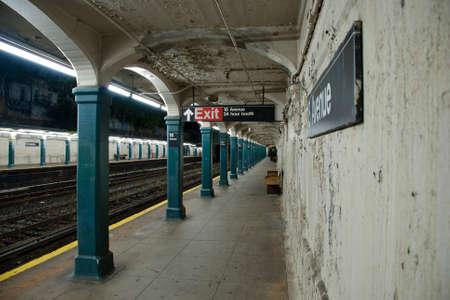 Subway train station