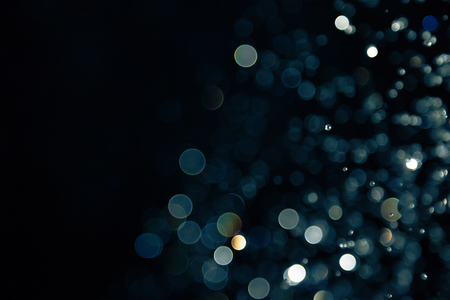 Photo for bokeh of lights on black background - Royalty Free Image