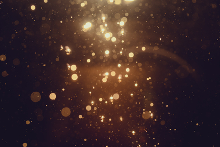 Foto de Gold abstract bokeh background - Imagen libre de derechos