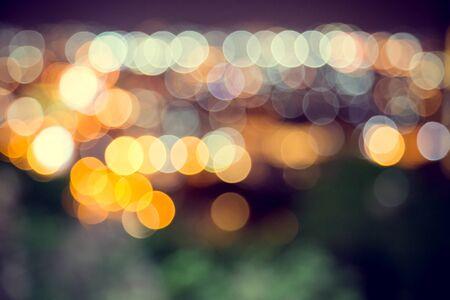 Photo pour Blur defocus bokeh of light in the city with dark background - image libre de droit