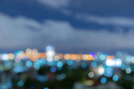 Photo pour Bokeh blur of city light on the night use for background - image libre de droit