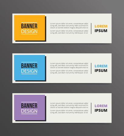 Illustration for boxed or box style banner template design with horizontal advertising banner space for text vector illustration - Royalty Free Image