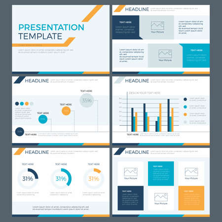 Illustration pour presentation template concept of business team work and marketing power point design - image libre de droit