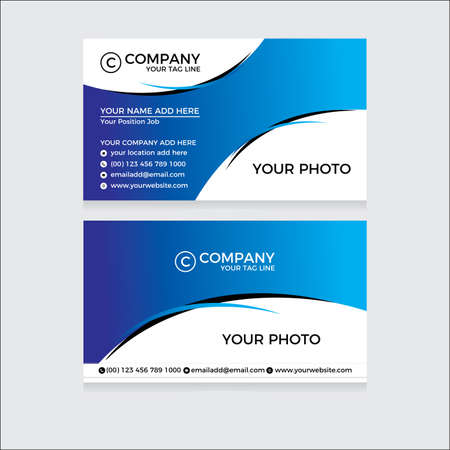 Ilustración de Business card for your company - Imagen libre de derechos