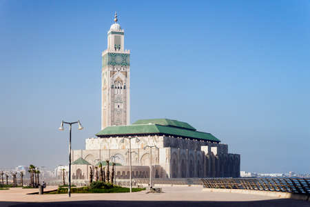 Photo for Panoramic Views of Hassan II Mosque in Casablanca, Morocco. - Royalty Free Image