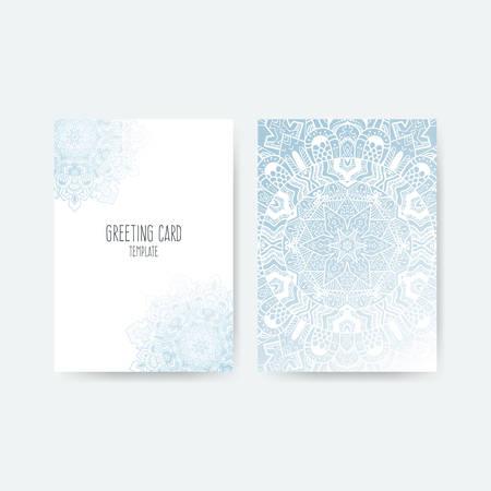 Vector Greeting Card Design Ornamental Invitation Template