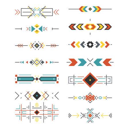 Ilustración de Tribal border collection made in modern and clean vector. Line style art. - Imagen libre de derechos