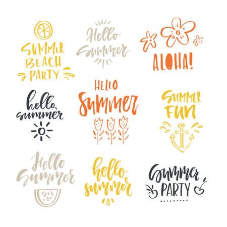Unique hand lettering design for travel agency, summer party