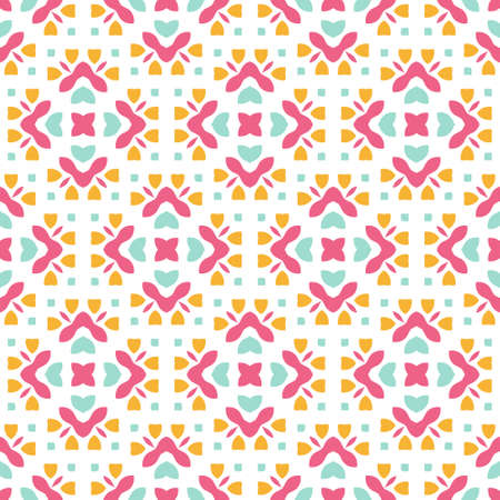 Illustration for Perfect graphical seamless pattern. Geometrical texture made in vector. Unique background for invitations, cards, websites. - Royalty Free Image
