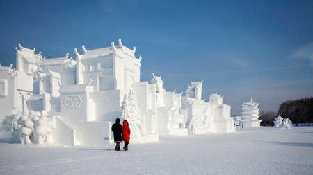 Snow southern town