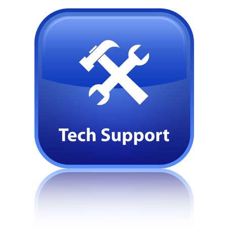 Photo pour Tech Support blue button - image libre de droit