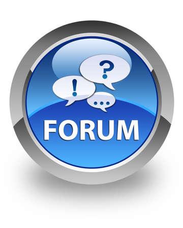 Forum icon on glossy blue round button