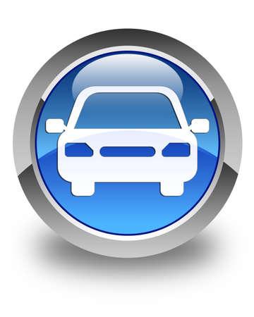 Foto de Car icon glossy blue round button - Imagen libre de derechos