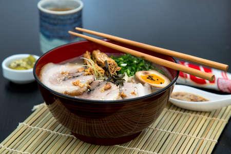 Photo of japanese tonkotsu ramen, pork - ID:60138858