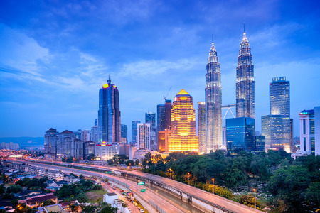 Night view of Kuala Lumpur skyline