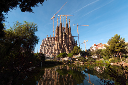 La Sagrada Familia, the cathedral designed by architect Gaudi and one of the main tourist attraction in Barcelona.
