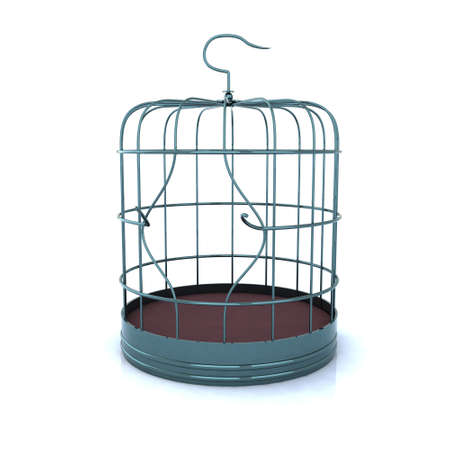 Photo for broken bird cage, the concept of escape - Royalty Free Image