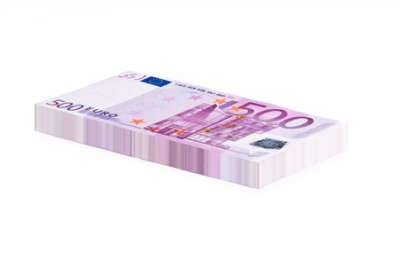 A Stack of 500 Euro Banknotes