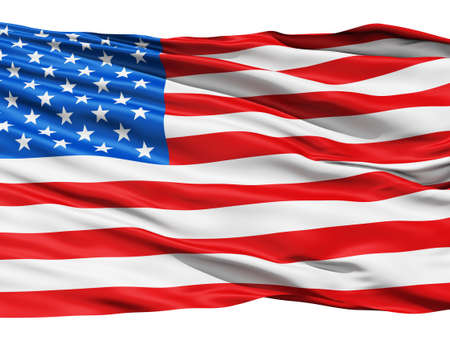 Realistic 3d seamless looping USA United States  flag waving in the wind