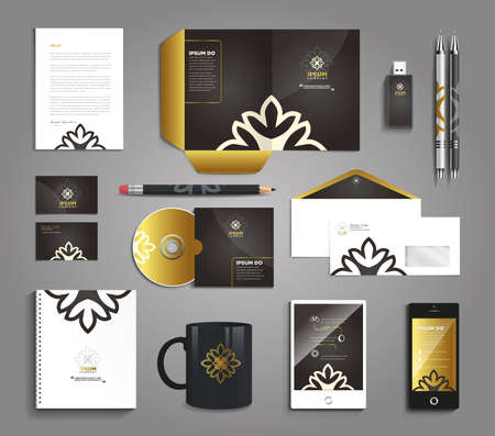 Classic and professional stationery template design for your company