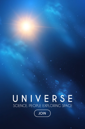 Illustration pour Universe. Infinity Space with Nebula and Star Light. Cosmos. Shining Blur Background. - image libre de droit
