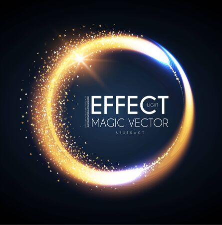 Illustration pour Magic circle light effect. Glittering and shining banner. Abstract background. - image libre de droit