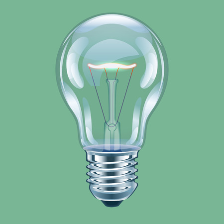 Vector illustration of incandescent bulb.