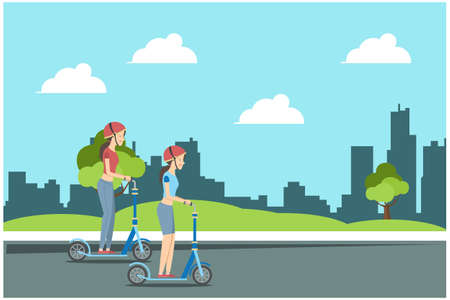 illustration of activities in the park during the day, vector illustrationSuitable for Diagrams, Infographics, Book Illustration, Game Asset, And Other Graphic Related Assets
