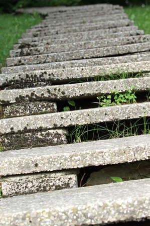 long concrete staircase that curve to infinity with very low steps