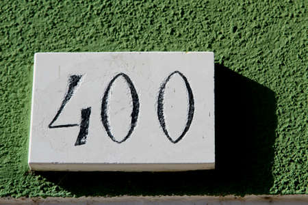 large number 400 with green background