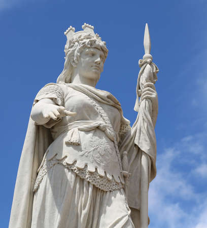 Detail of marble Statue of Liberty in San Marino a small microstate in the Central Italy