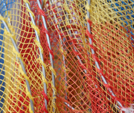 background of a net of a toy fishing net