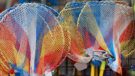 many fishing net in the toy store