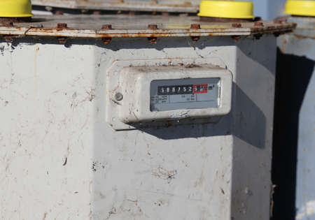 big old gas meter to measure the consumption of a large industry