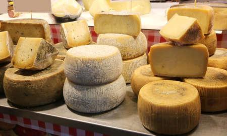 Photo pour dairy that sells cheese seasonings such as pecorino or parmesan - image libre de droit